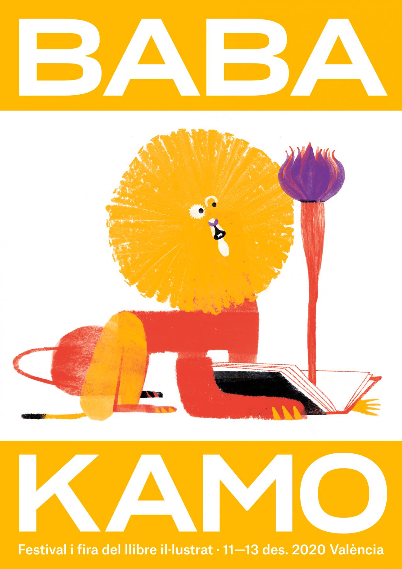 Un lleó lector per a un món que necessita somiar: Baba Kamo torna a València amb un cartell de Maguma